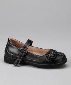 Black & White Stitch Mary Jane #zulily #fall