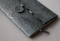 V FOR BOOKS - a bookbinding blog • Wraith is a new black notebook made by me. These...