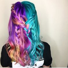Lisa Frank, Kids Braided Hairstyles, Cool Hairstyles, Pulp Riot Hair Color, Creative Hair Color, Hair Dye Colors, Bright Hair, Coloured Hair, Dye My Hair