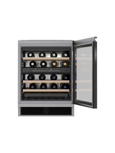Buy Miele Integrated Wine Cabinet from our Wine Cabinets range at John Lewis & Partners. Wine Cabinets, Black Kitchens, Wooden Shelves, Sophisticated Style, Integrity, Glass Door, White Wine, Wine Rack