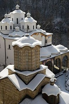 Monastery of St Joakim Osogovski, near Kriva Palanka, Republic of Macedonia, Macedonia - This is where my daughter was Christened. Places Around The World, The Places Youll Go, Places To Go, Around The Worlds, Beautiful Architecture, Beautiful Buildings, Beautiful Places, Amazing Places, Les Balkans