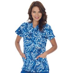 Jockey Scrubs -  Ladies V-Neck Scrub Top - Water