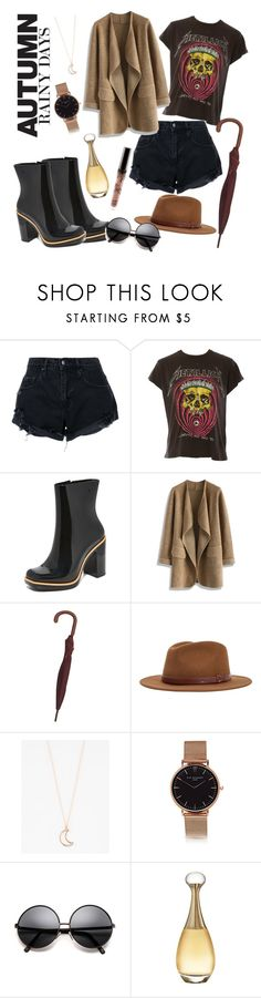 """Autumn in Brazil: Rainy Days"" by gacruzified on Polyvore featuring Nobody Denim, MadeWorn, Melissa, Chicwish, Gucci, Brixton, Full Tilt and Christian Dior"