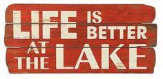 Life at Lake Sign