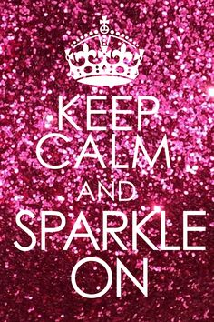 Make sure to add sparkle wherever you can. It's New Year's!