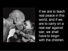 Gandhi on peace and children. Peace Quotes, Wise Quotes, Great Quotes, Motivational Quotes, Inspirational Quotes, Wise Sayings, Indira Ghandi, Montessori Quotes, Montessori Education