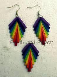 Resultado de imagen de quilling jhumka earrings