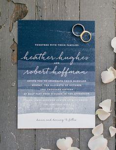 Image result for slate blue wave wedding invitations