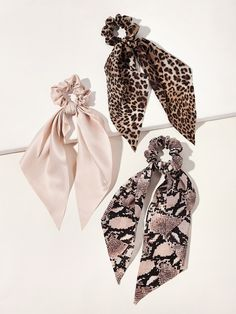 Check out this Leopard & Snakeskin Pattern Scrunchie Scarf on Shein and explore more to meet your fashion needs! Diy Hair Scrunchies, Head Scarf Styles, Tie Set, Floral Hair, Scarf Hairstyles, Hair Ties, Snake Skin, Fashion News, Ideias Fashion