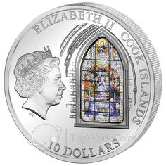 Cook Islands 2011 10$ Seville Cathedral Windows Of Heaven Proof Silver Coin :: Top World Coins