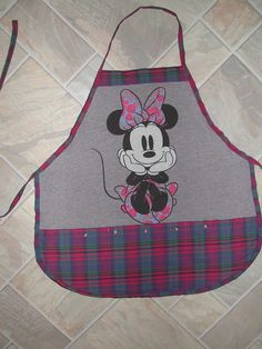 Minnie Mouse Apron or Adult Bib by funfoodsaprons on Etsy