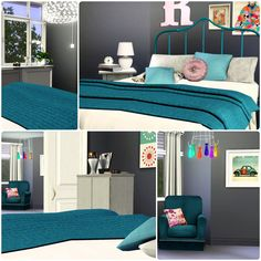 Urban Living 2.0 by Simberry / Bedroom / Download Sims 3 Sims 3, Free Sims, Maxis, Interior Ideas, Apartments, Urban, Bedroom, House, Furniture