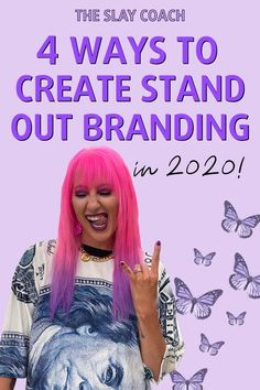 Create stand out branding to grow your business. Use your personal branding to stand out from your competitors. Branding isn't just a color palette anymore. Branding is showing up and living and breathing as your brand - every single day. Blog post by The Slay Coach Jamie King #branding #business #brandtips #branddesign #businesstips