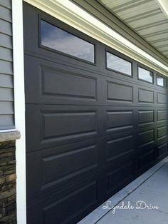 Black Garage Doors With Brick House Paint Exterior
