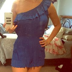 Blue one sleeve romper Great condition S&S clothing Dresses One Shoulder