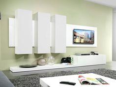 LIVING Designer Wohnwand TV-Board Schrankwand Wohnkombination weiß Hochglanz in Möbel & Wohnen | eBay