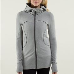 Lululemon Live Simply Hoodie Oversized hood with fabulous lining. Longer length and a slim fit. Classic lulu detailing on sleeves. Excellent condition. Only worn a few times, always line dried. lululemon athletica Tops Sweatshirts & Hoodies