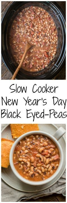 Slow Cooker New Year's Day Black-Eyed Peas