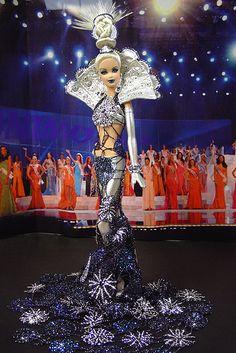 OOAK Barbie NiniMomo's Miss Alaska 2007 Barbie Miss, Baby Barbie, Barbie Princess, Barbie And Ken, Beautiful Barbie Dolls, Pretty Dolls, Miss Alaska, Dress Up Dolls, Barbie Collector
