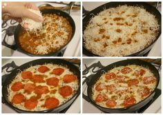 Pepperoni Pizza Pasta made in a Skillet!