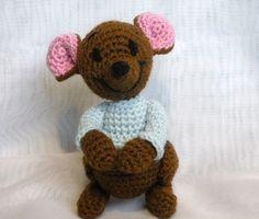 PDF - Roo the Winnie the Pooh's friend - 8 inches amigurumi doll crochet pattern on Etsy, $6.09 AUD