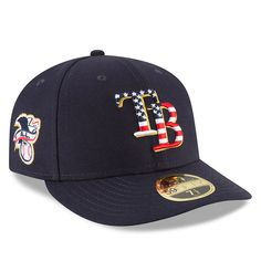 hot sale online 96cc5 a4e55 Tampa Bay Rays New Era 2018 Stars   Stripes 4th of July On-Field Low  Profile 59FIFTY Fitted Hat – Navy