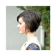 Hair and Beauty / Growing out the pixie doesn't have to be awkward. via Polyvore