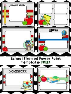 Free powerpoint templates education powerpoint templates free school themed power point template just add your own text and go so toneelgroepblik Gallery
