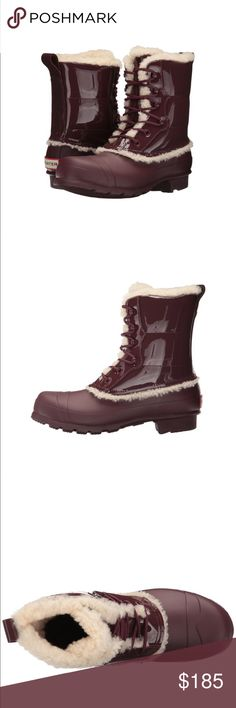 Hunter Duck Boots Hunter Original Lace Up Duck Boots. Brown. Size 10. Lined. New in box. Gorgeous 🎀 Hunter Boots Shoes Winter & Rain Boots