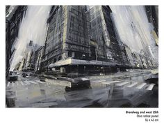 Emilio Valerio D'Ospina  Broadway and west 25th Óleo sobre panel  61x42 cm