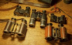 wo Goerz D.f. 99 in font, Goerz Fago 3X ( yes 3X a rare option where most Fago's are 2,5X ), Hensholt 6X26 early Dialyt, Zeiss Galan 2,5X