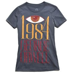 1984 book cover t-shirt. I like the design but wish it was on a bag or tank top instead...I rarely wear t-shirts.