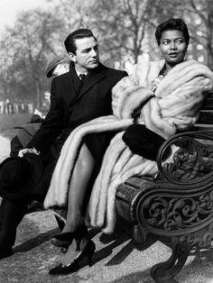Actress Pearl Mae Bailey with her husband, Louis Bellson, an Italian American jazz composer, arranger, bandleader and drummer. Circa 1950s