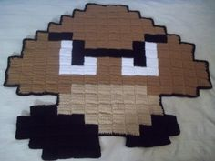 Big 8-bit Goomba rug via Etsy