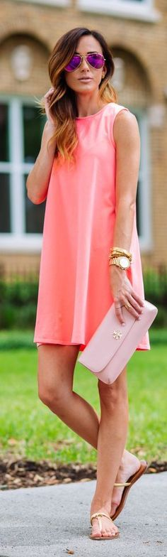 Neon Swing Dress Summer Style by Sequins & Things