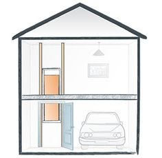 Stiltz home elevators will allow you quick and safe access from a garage into your home. This application will require the construction of a simple shaft in the garage.  Bespoke