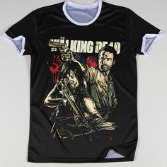Promotion Summer Men Tops The Walking Dead Printed T Shirts Round Collar Neck Tees Man Camisetas Short Sleeve Bulk Discount | The Big Fashion Sale 2016
