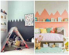 Childrens room wall painting