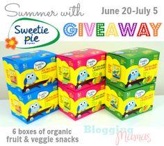 Summer with Sweetie Pie Organics - Organic Fruit & Veggie Snacks [+ Giveaway!] - Blogging Mamas
