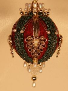 Superb 1000 Images About Ornaments Satin Beaded On Pinterest Beaded Easy Diy Christmas Decorations Tissureus