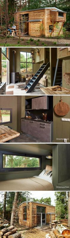 Shed Plans - A cozy tiny house, designed and built for a family of four at the Droomparken tiny house resort - Now You Can Build ANY Shed In A Weekend Even If You've Zero Woodworking Experience! Tiny House Cabin, Tiny House Living, Tiny House Plans, Tiny House Design, Tiny House Movement, Interior Design Minimalist, Tiny Spaces, Little Houses, Tiny Houses