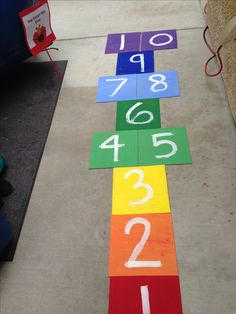 hop scotch with elmo diy rainbow sesame street hopscotch 1st birthday party ideas