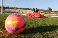 Cute Quinceanera photography ideas, for girls that love soccer!