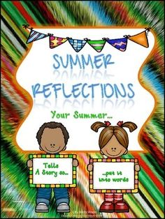 """Summer: Reflection Writing ~ FREEBIE!! .... Follow for FREE """"too-neat-not-to-keep"""" teaching tools & other fun stuff :)"""