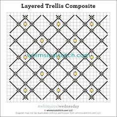 #whimsicalwednesday blog — whimsicalstitch.com Needlepoint Stitches, Needlework, Cross Stitch Embroidery, Cross Stitch Patterns, Running Stitch, Color Lines, Plastic Canvas, Geometry, Sewing Crafts