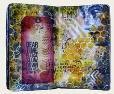 Art journal with Time stamp (Marjie Kemper)