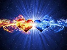 Purple and Blue Flaming Heart | Blue Flame Heart