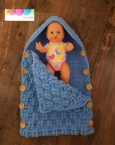 Szydełkowy becik śpiworek do spania dla noworodka  - KatZab - Śpiworki dla niemowląt