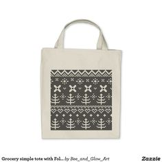 Grocery simple tote with Folk ornaments Designer Totes, Shopping Bag, How To Draw Hands, Folk, Reusable Tote Bags, Ornaments, Stylish, Simple, Designers