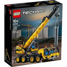 Shop LEGO Technic Mobile Crane 42108 at Best Buy. Find low everyday prices and buy online for delivery or in-store pick-up. Lego Technic Sets, Lego Sets, Lego Crane, Technique Lego, Van Lego, Toy Trucks, Monster Trucks, Shop Lego, Kabine